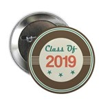 "Class of 2019 Vintage 2.25"" Button"
