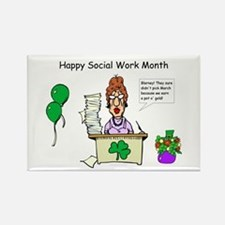 Social Work Month Desk2 Rectangle Magnet