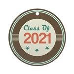Class of 2021 Vintage Ornament (Round)