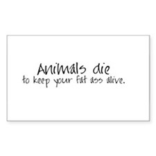 Animals die Rectangle Decal