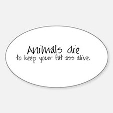 Animals die Oval Decal