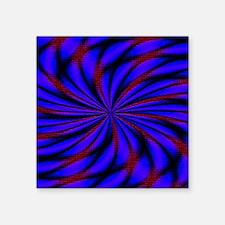 "Psychedelic 2 Square Sticker 3"" x 3"""