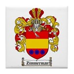 Zimmerman Coat of Arms Crest Tile Coaster