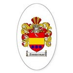 Zimmerman Coat of Arms Crest Oval Sticker
