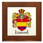 Zimmerman Coat of Arms Crest Framed Tile