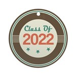 Class of 2022 Vintage Ornament (Round)
