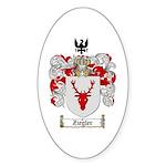 Ziegler Coat of Arms Crest Oval Sticker