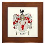 Ziegler Coat of Arms Crest Framed Tile