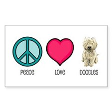 Peace Love & Doodles Rectangle Decal