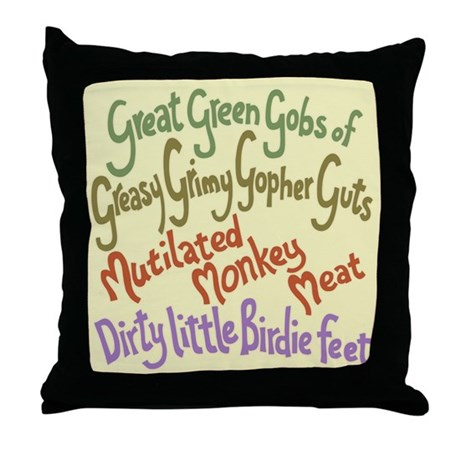 Great Green Gobs Throw Pillow