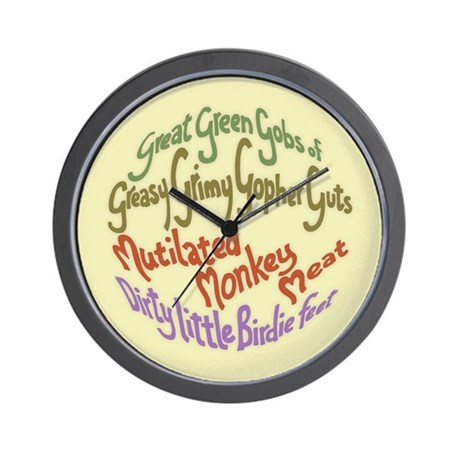 Great Green Gobs Wall Clock