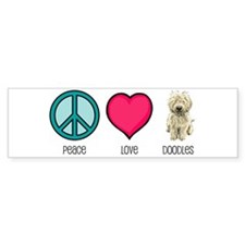 Peace Love & Doodles Bumper Car Sticker