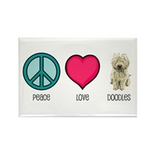 Peace Love & Doodles Rectangle Magnet