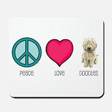Peace Love & Doodles Mousepad