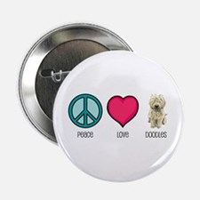 Peace Love & Doodles Button