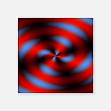 "Psychedelic 7 Square Sticker 3"" x 3"""