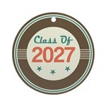 Class of 2027 Vintage Ornament (Round)