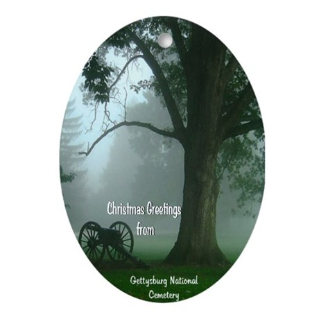 Gettysburg National Cemetery Ornament (Oval)