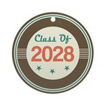 Class of 2028 Vintage Ornament (Round)