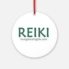 Reiki green Ornament (Round)