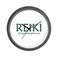 Reiki green Wall Clock
