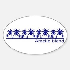 Amelie Island, Florida Oval Decal