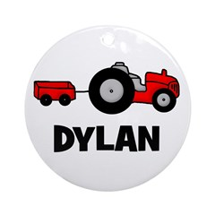 Tractor - Dylan Ornament (Round)