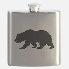 Black California Bear Flask