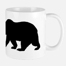 Black California Bear Small Mug