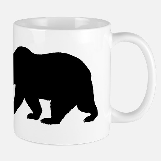 Black California Bear Small Mug