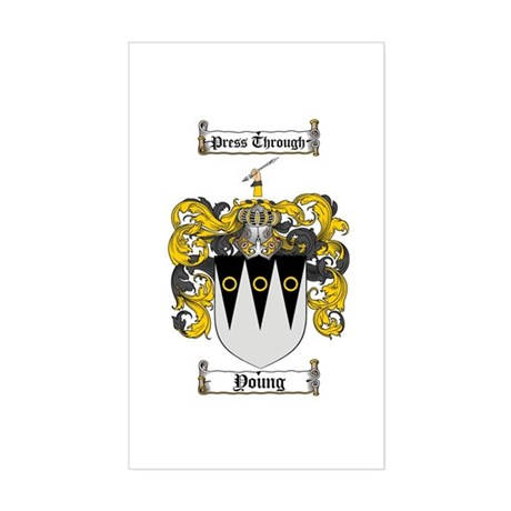 Young Coat of Arms Scottish Crest Sticker (Rectang