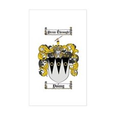 Young Coat of Arms Scottish Crest Stickers