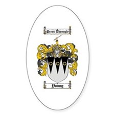 Young Coat of Arms Scottish Crest Oval Bumper Stickers