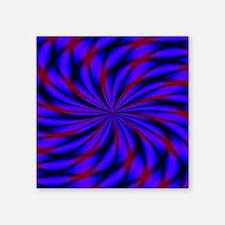 "Psychedelic 19 Square Sticker 3"" x 3"""