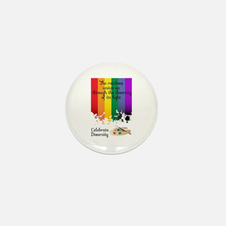 Celebrate Diversity Mini Button
