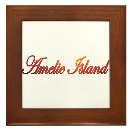 Amelie Island, Florida Framed Tile