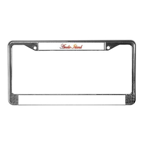 Amelie Island, Florida License Plate Frame
