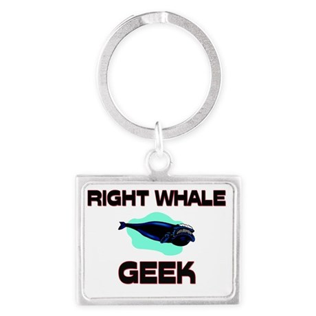 RIGHT-WHALE1695 Landscape Keychain