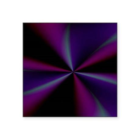 "Psychedelic 20 Square Sticker 3"" x 3"""