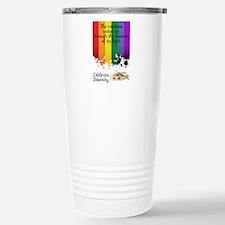 Celebrate Diversity Stainless Steel Travel Mug