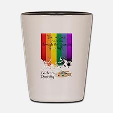 Celebrate Diversity Shot Glass