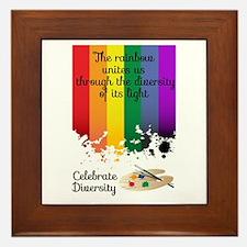 Celebrate Diversity Framed Tile