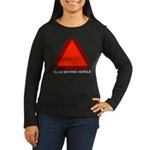 Slow Moving Vehicle Sign Women's Long Sleeve Dark