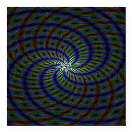 """Psychedelic 23 Square Car Magnet 3"""" x 3"""""""