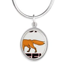 FOX11109 Silver Oval Necklace