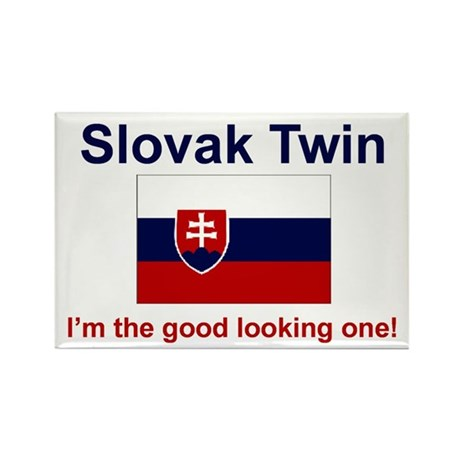 Good Looking Slovak Twin Rectangle Magnet