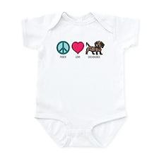 Peace Love & Dachshunds Infant Bodysuit