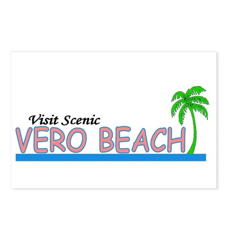 Visit Scenic Vero Beach, Flor Postcards (Package o