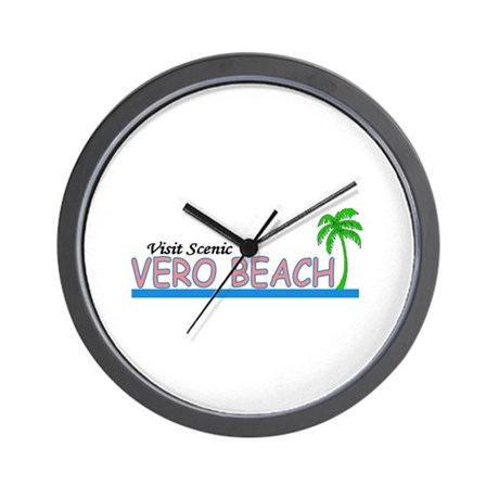 Visit Scenic Vero Beach, Flor Wall Clock