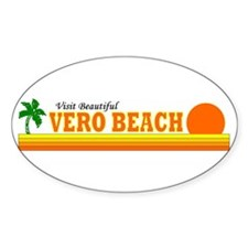 Visit Beautiful Vero Beach, F Oval Decal